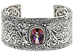 Pre-Owned Hayward's Muse™ Mystic Quartz® Sterling Silver Cuff Bracelet 7.90ctw