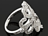 Pre-Owned Diamond Sterling Silver Ring .59ctw