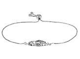 Pre-Owned Sterling Silver Oval Script Sliding Adjustable Bracelet