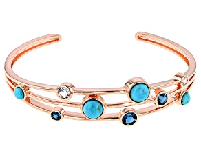 Pre-Owned Timna Jewelry Collection™ London Blue Topaz Copper Bracelet 2.69ctw