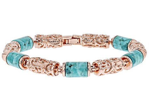 Pre-Owned Turquoise Copper Bracelet