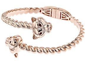 Pre-Owned Copper Red Garnet Jaguar Bypass Bracelet .10ctw