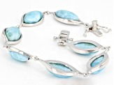 Pre-Owned Blue larimar sterling silver bracelet