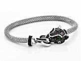 Pre-Owned Black spinel rhodium over silver bracelet 1.66ctw