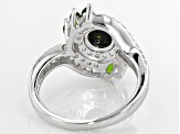 Pre-Owned Black Ethiopian Opal Sterling Silver Ring 1.41ctw