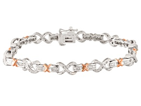 Pre-Owned Diamond Silver Bracelet 1.15ctw