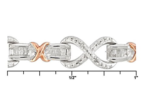 Pre-Owned Diamond Silver Bracelet 1.15ctw