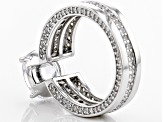 Pre-Owned Cubic Zirconia Silver Ring 8.08ctw (5.12ctw DEW)