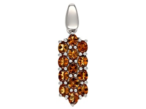 Pre-Owned Orange Mandarin Garnet Sterling Silver Pendant 1.93ctw