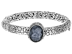 Pre-Owned Blue Angelite Silver Bracelet