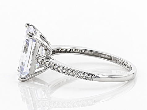 Pre-Owned White Cubic Zirconia 10k White Gold Ring 6.33ctw