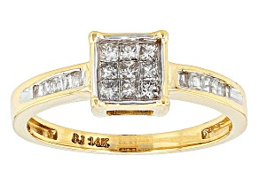 Pre-Owned Diamond 14k Yellow Gold Ring .35ctw