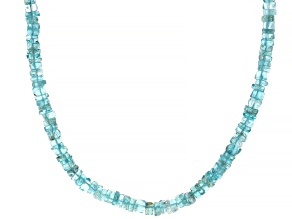 Pre-Owned Blue apatite sterling silver necklace