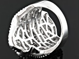 Pre-Owned Cuvic Zirconia Silver Ring 10.56ctw