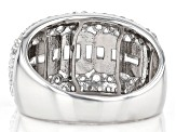 Pre-Owned White Cubic Zirconia Rhodium Over Sterling Silver Ring 3.07ctw