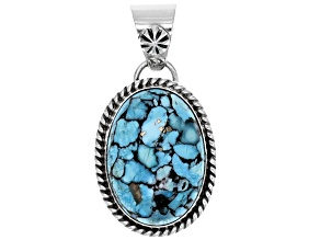 Pre-Owned Turquoise Sterling Silver Pendant