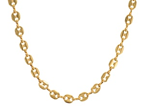 Pre-Owned Gold Tone Endless Fancy Link Chain