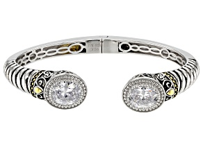 Pre-Owned White Cubic Zirconia Rhodium Over Sterling Silver Bracelet 8.20ctw