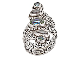 Pre-Owned Lily Frost™ Mystic Quartz® Silver Ring 3.72ctw