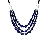 Pre-Owned Blue Lapis Lazuli Sterling Silver Necklace