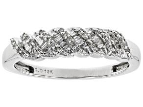 Pre-Owned White Diamond 10k White Gold Ring 0.20ctw