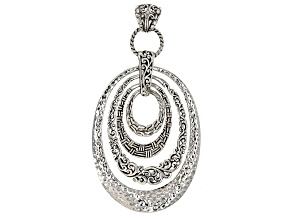 Pre-Owned Sterling Silver Hammered Pendant