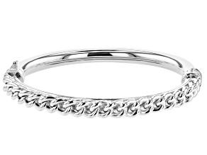 Pre-Owned Sterling Silver Curb Link Bangle Bracelet
