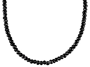 Pre-Owned Black Spinel Sterling Silver 19 inches Necklace 49.50ctw