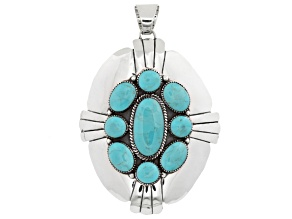Pre-Owned Turquoise Kingman Silver Pendant
