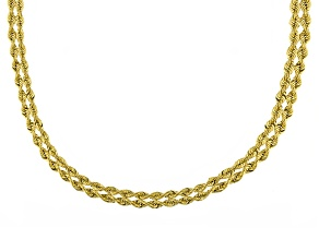 Pre-Owned 10k Yellow Gold Hollow Rope Link Necklace