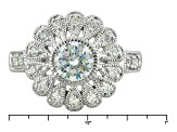 Pre-Owned White Cubic Zirconia Rhodium Over Sterling Silver Ring 1.90ctw