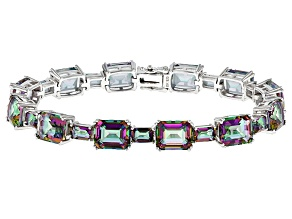Pre-Owned Multicolor Quartz Sterling Silver Bracelet 40.07ctw