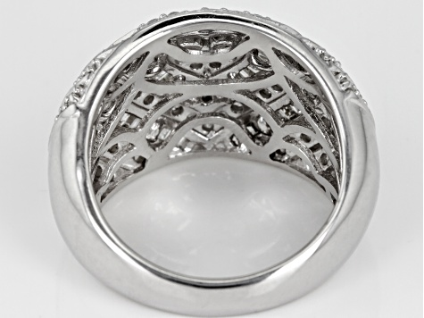 Pre-Owned White Diamond Rhodium Over Sterling Silver Ring 1.45ctw