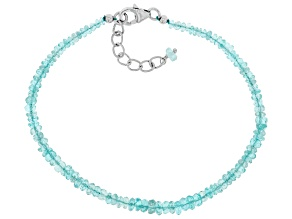 Pre-Owned Blue apatite sterling silver bracelet