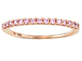 Pre-Owned Pink Cubic Zirconia 10k Rose Gold Band .45ctw (.22ctw DEW)