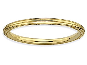 Pre-Owned 14k Yellow Gold Over Sterling Silver Fancy Band Ring