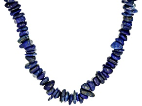 Pre-Owned Blue lapis lazuli chip sterling silver necklace
