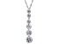 Pre-Owned White Cubic Zirconia Rhodium Over Sterling Silver Pendant With Chain 6.35ctw