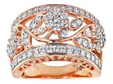 Pre-Owned Cubic Zirconia 18k Rose Gold Over Silver Ring 2.40ctw (1.34ctw DEW)