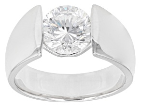 Pre-Owned Cubic Zirconia Rhodium Over Sterling Silver Ring 3.15ctw