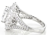 Pre-Owned White Cubic Zirconia Platineve Ring 8.58ctw