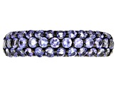 Pre-Owned Blue tanzanite rhodium over silver band ring 1.25ctw