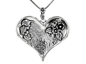 Pre-Owned Sterling Silver Heart Pendant With Chain