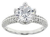 Pre-Owned Cubic Zirconia Silve Ring 3.81ctw (2.57ctw DEW)