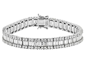 Pre-Owned Cubic Zirconia Rhodium Over Sterling Silver Bracelet 29.49ctw