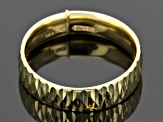 Pre-Owned 14k Yellow Gold Hollow Diamond Cut Band Ring