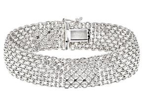 Pre-Owned Sterling Silver Bold Bismark Chain Bracelet