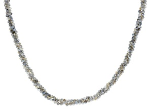Pre-Owned Gray Labradorite Sterling Silver Bead Necklace Approximately 67.67ctw