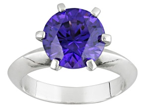 Pre-Owned Purple Yag Sterling Silver Ring 4.59ct