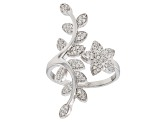 Pre-Owned White Cubic Zirconia Rhodium Over Sterling Silver Ring 0.78CTW